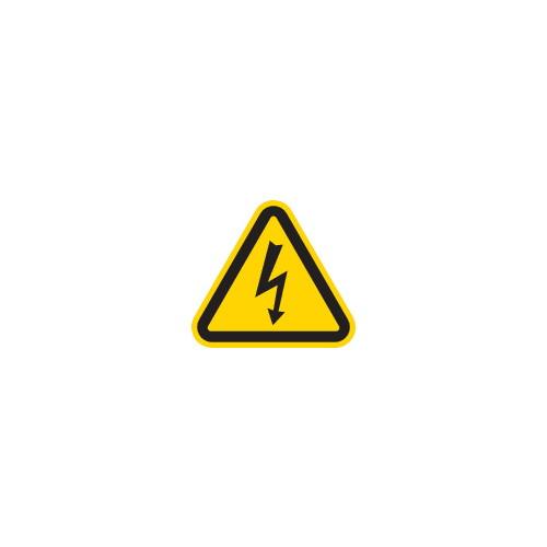 三角ラベル電気危険 25mm(一辺の長さ)