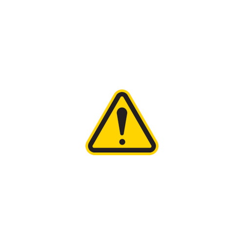 三角ラベル危険 100mm(一辺の長さ)