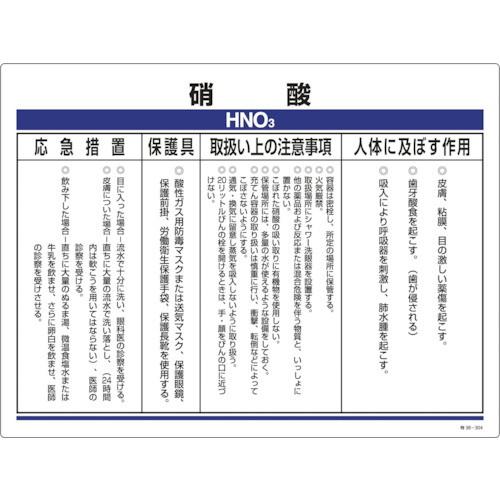 化学物質関係標識 硝酸 450×600mm 塩ビ