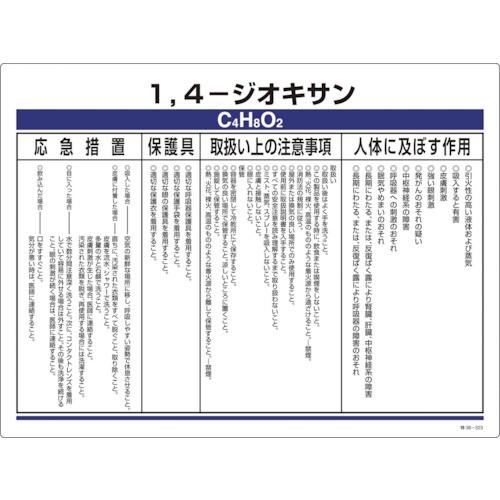 特定化学物質標識 1,4-ジオキサン 塩ビ 450×600mm