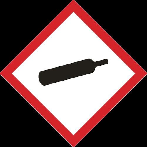 GHSステッカー標識 ガスボンベ 150×150mm 5枚組 PET