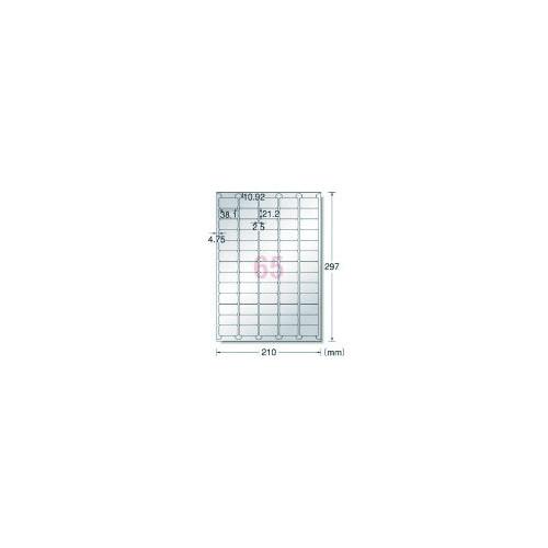 エーワン 屋外用サインラベル(レーザー)ツヤ消しシルバー 65面 (5枚)