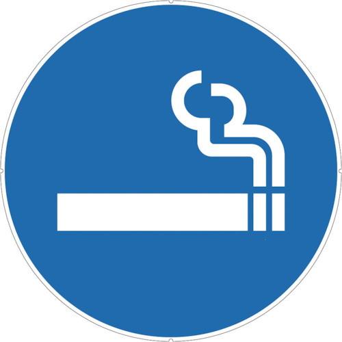 カラープラポールサインキャッププレート 喫煙