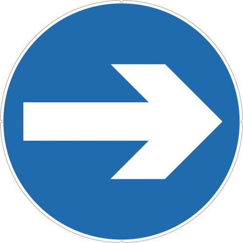 カラープラポールサインキャッププレート 矢印