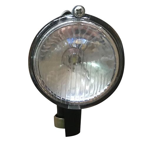 LEDブロックダイナモランプ 丸 ブラック