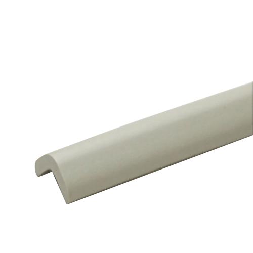 安心クッションL字型90cm 極細 ライトグレー