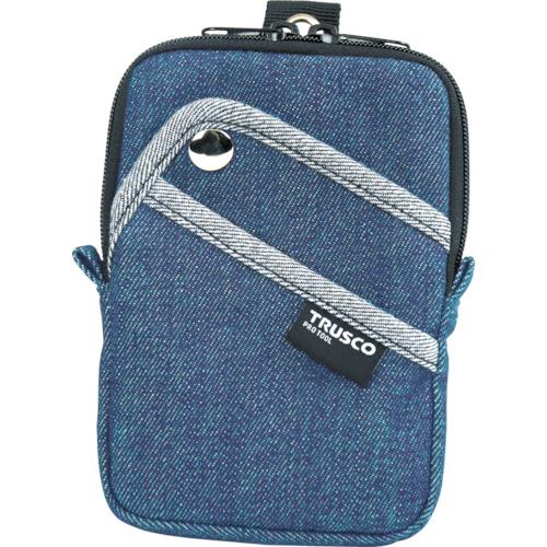 デニムコンパクトケース 3ポケット ブルー