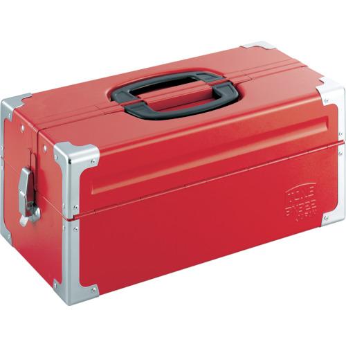 BX322 ツールケース(メタル) V形2段式 433×220×195mm レッド