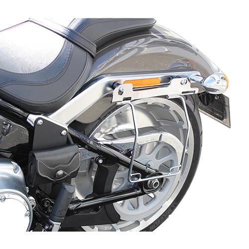 サドルバッグガード オールインワン DHW対応 左側(メッキ) HD-07905