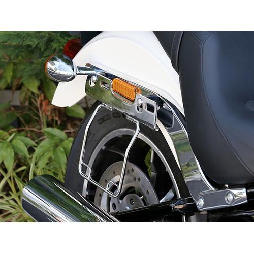 サドルバッグガード オールインワン DHW対応 右側(メッキ) HD-07906