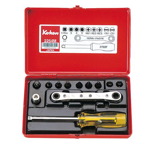 2254M 1/4(6.35mm)SQ. ソケットセット 12ヶ組