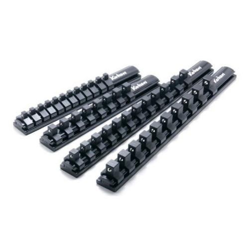 アルミソケットレール 1/2 (12.7mm)SQ.クリップ10ヶ付き 全長300mm