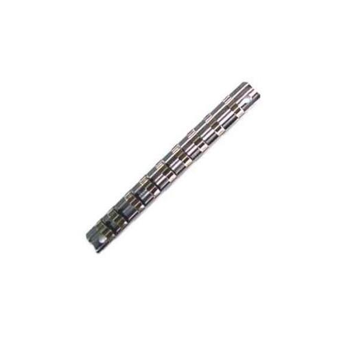 スチールソケットレール 1/4 (6.35mm)SQ.クリップ9ヶ付き 全長150mm