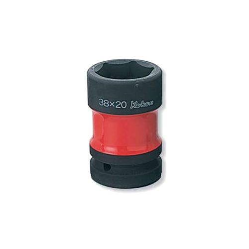 PW8P-38X20 1(25.4mm)SQ. インパクトホイールナットソケット(コンビネーションタイプ/薄肉/色付) 38mmx20mm
