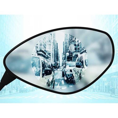 ミラー用防曇防滴フィルム 「クリアビュー」&作業用ツールセット 汎用 楕円形 45×90mm