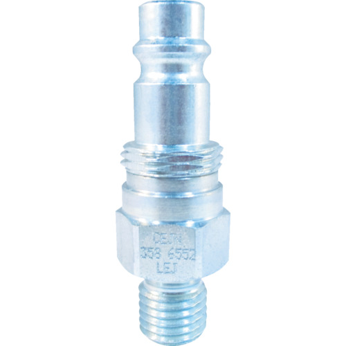スナップ・チェック/358 ワンタッチ検圧ニップル バルブ付き M10×1.25 オネジ