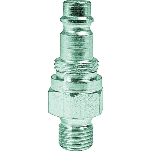 スナップ・チェック/358 ワンタッチ検圧ニップル バルブ付き G1/4 オネジ 窒素ガス用