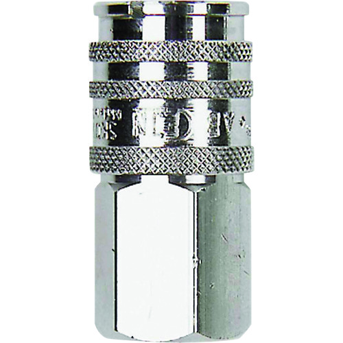 スナップ・チェック/358 ワンタッチ検圧カップリング バルブ無し G1/4 メネジ