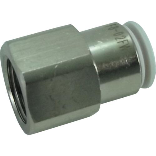 ファイブフィメイルコネクタ W(白)6mm・RC1/4