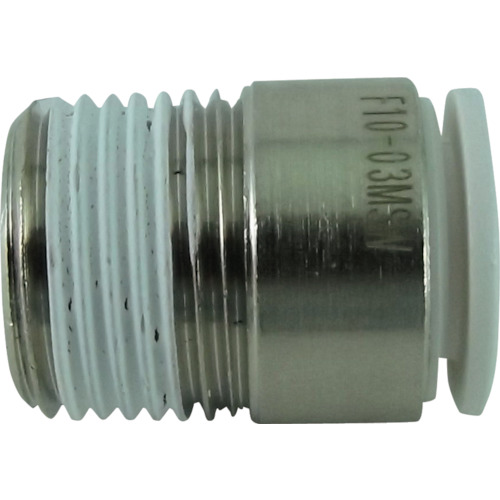 ファイブ六角穴付メイルコネクター W(白)10mm・R3/8