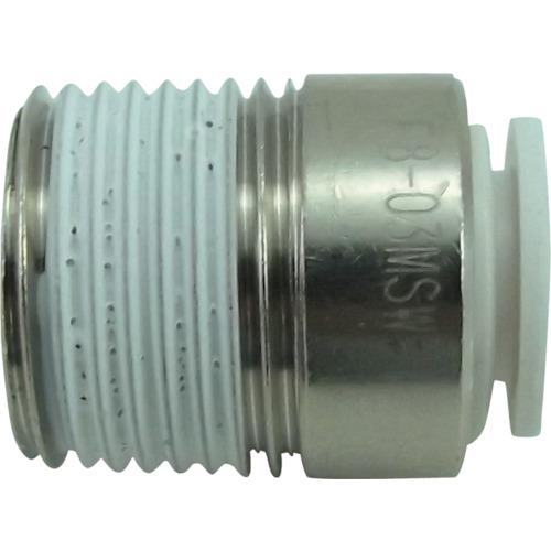 ファイブ六角穴付メイルコネクター W(白)8mm・R3/8