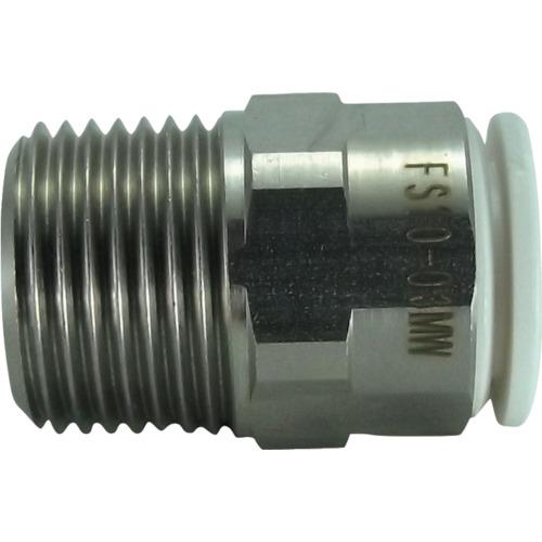 ファイブSUSメイルコネクタ 白 10mm・R3/8