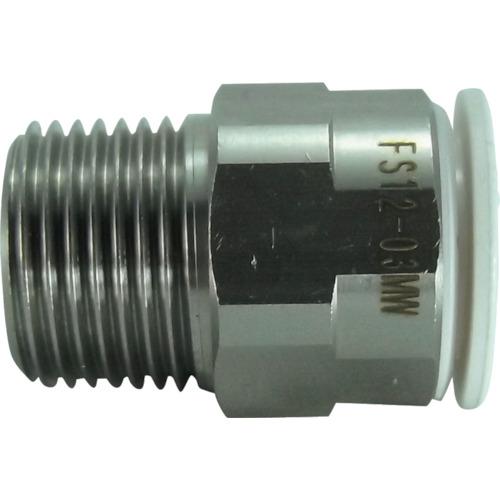 ファイブSUSメイルコネクタ 白 12mm・R3/8