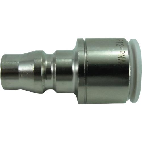ファイブ内蔵カップリングストレートプラグ W(白)12mm
