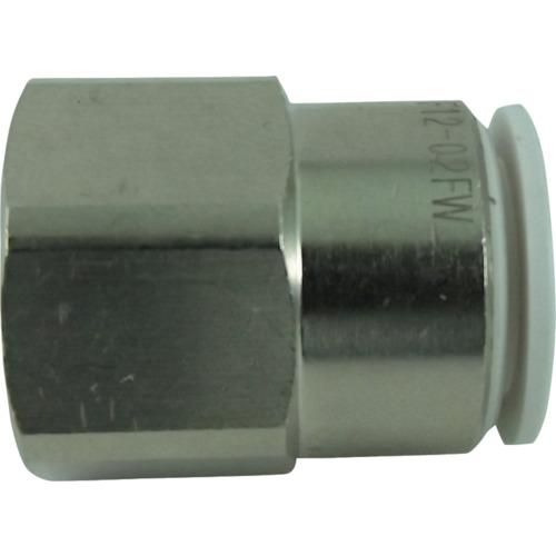 ファイブフィメイルコネクタ- 白12mm・Rc1/4