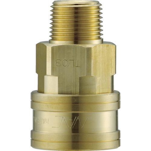 クイックカップリング TL型 真鍮製 メネジ取付用 両路開放型
