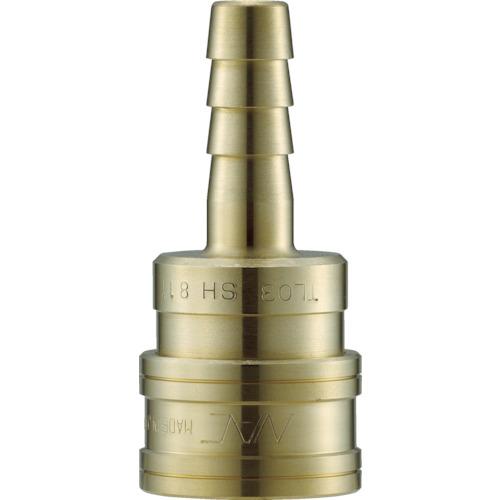 クイックカップリング TL型 真鍮製 ホース取付用 両路開放型