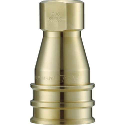 クイックカップリング SPE型 真鍮製 大流量型 オネジ取付用 両路開閉型