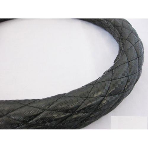 【受注生産品】ハンドルカバー シングルステッチ プチダイヤ ブラック 2HL