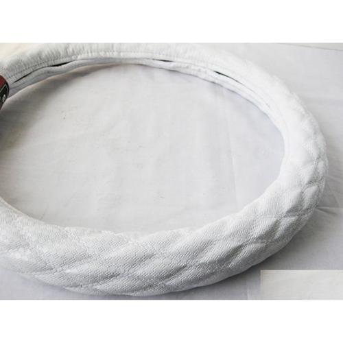 【受注生産品】ハンドルカバー ダブルステッチ プチダイヤ ホワイト/ホワイト LM