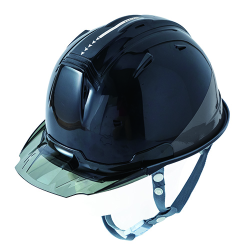 リフレクションスケルトンバイザーヘルメットC1 型 ブラック F