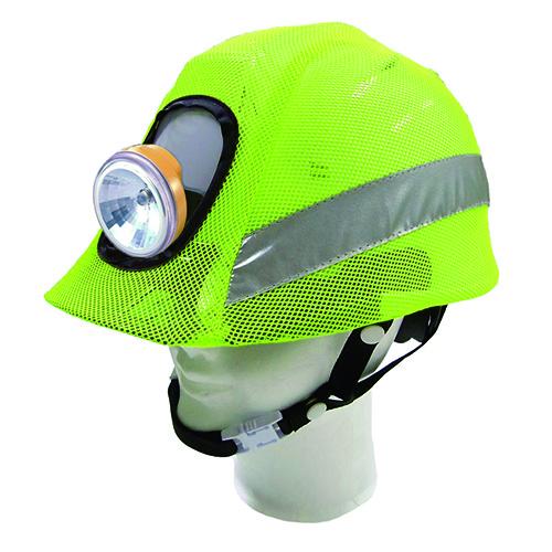 リフレクションセーフティーヘルメットカバー 蛍光グリーン F