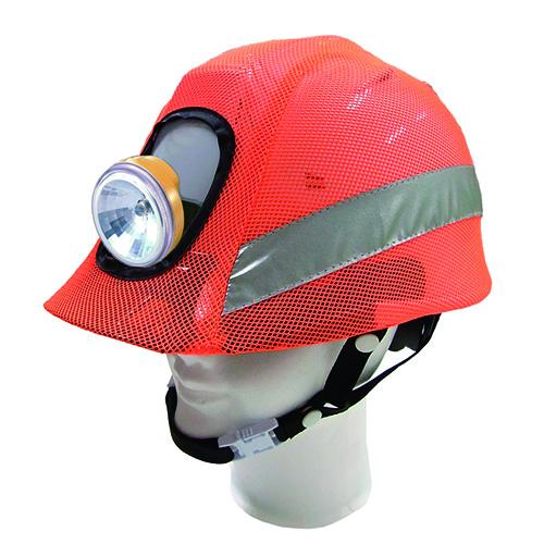 リフレクションセーフティーヘルメットカバー 蛍光オレンジ F
