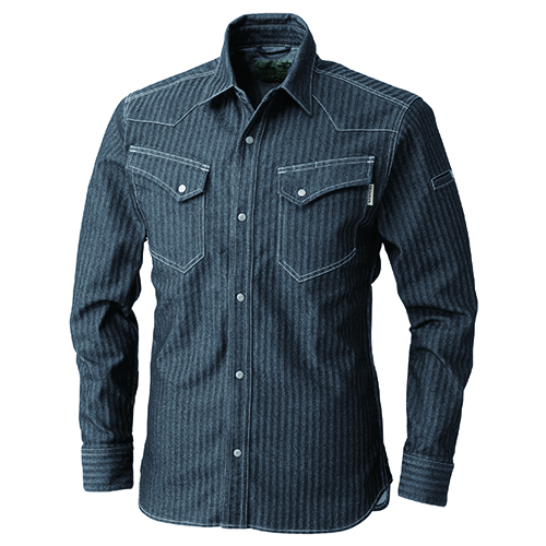 長袖シャツ ブラック 6L