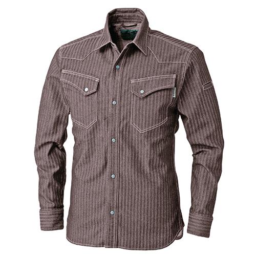 長袖シャツ キャメル M