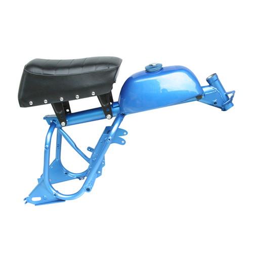 キットバイク交換用 スチール製 Aタイプ フレーム ブルー