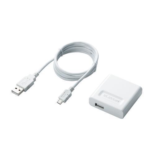 スマートフォン用AC充電器 ホワイト