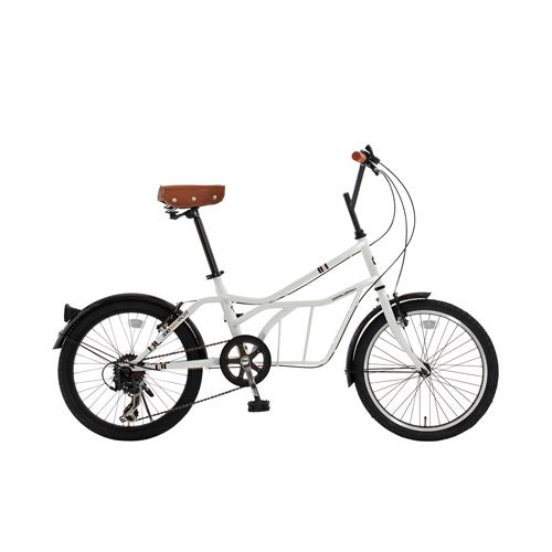 【直送】20インチ 自転車 ホワイト(サントリーニ)