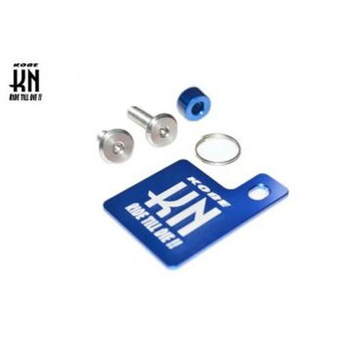JS-SH-BL 自賠責ステッカープレート & KNキーホルダー ブルー