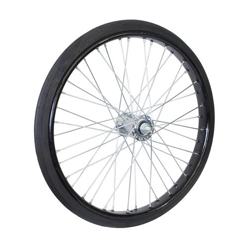 26×2 1/2 ノーパンクタイヤ付リムセット 組付 ブラック