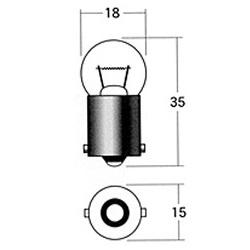 【1個売り】ウインカー球 A2230NA 12V10W (オレンジ)