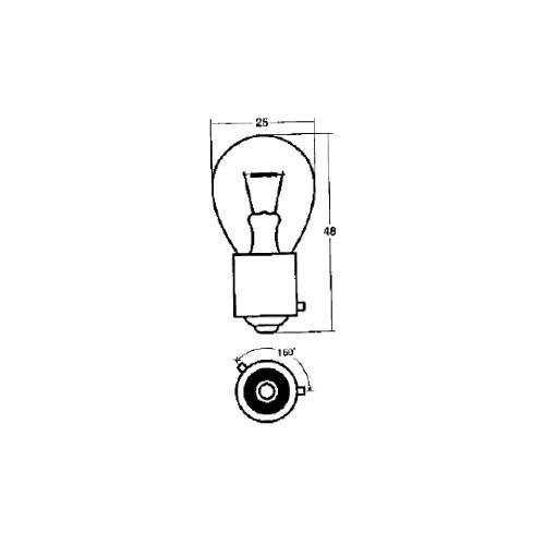 ウインカー球 A4958 24V21W アンバー
