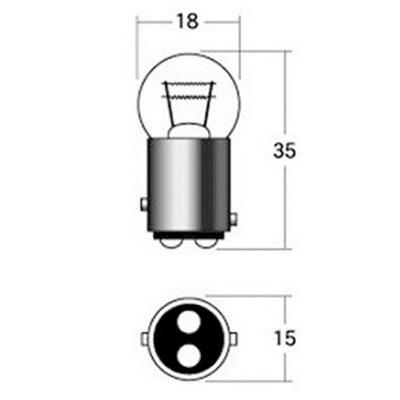 ウインカーポジション球 A5407OR(オレンジ) 12V21/5W