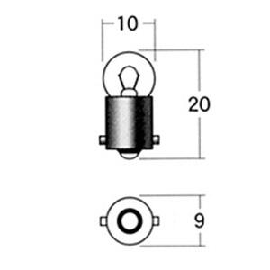 メーターポジション球 A72A 12V3.4W