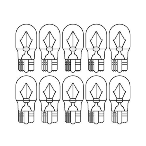 【ケース売り】BWB18A 12v10w ウエッジ中(W2.1×9.5d)