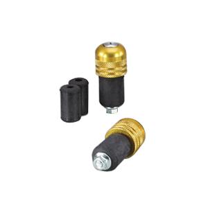 HB0315G φ22アルミサイドキャップ ローレット ゴールドアルマイト